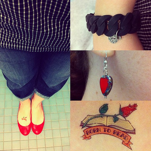 I feel like a rockabilly picnic attendee. When I told a coworker that she gave me a librarian tattoo.