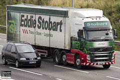 Volvo FH 6x2 Tractor - PX11 BWC - Jodie Megan - Green & Red - Eddie Stobart - M1 J10 Luton - Steven Gray - IMG_6140