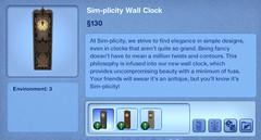 Sim-plicity Wall Clock