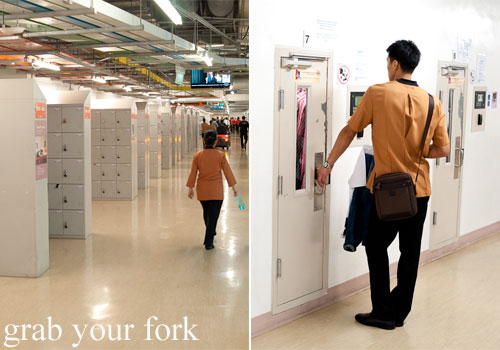 staff lockers and uniforms at marina bay sands singapore