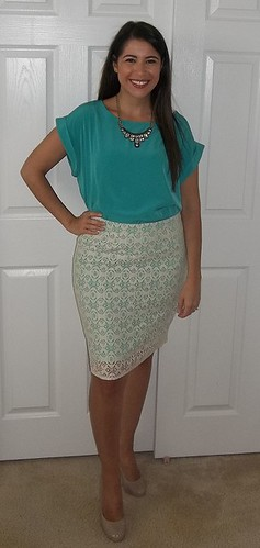 Lace Pencil Skirt outfit pear shape