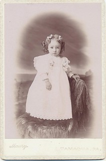 Cabinet Card Portrait of a Lovely Little Girl