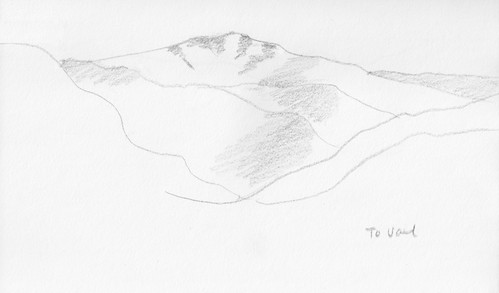 Colorado Sketchbook To Vail (Black and White Version) by randubnick