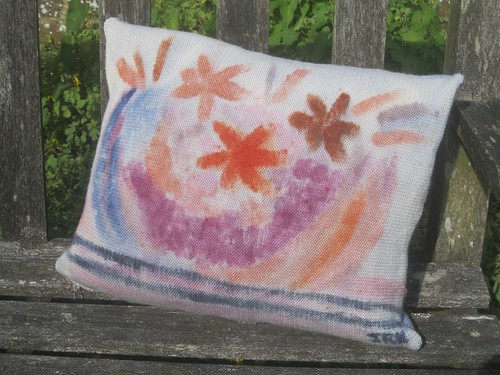 Hand painted cushion