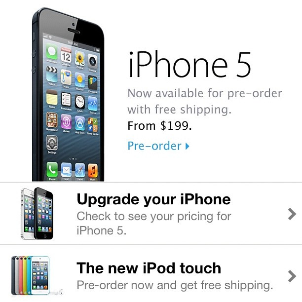 Are you pre-ordering the #iPhone5 today?