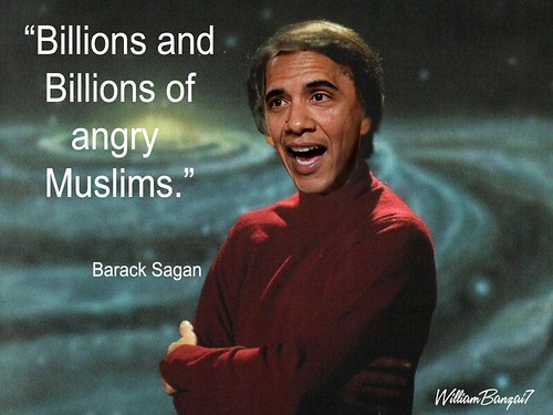 AND NOW FOR A MESSAGE FROM BARRACK SAGAN by Colonel Flick