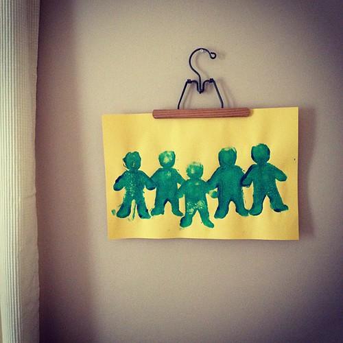 "Preschool ""friendship"" art: Oliver."