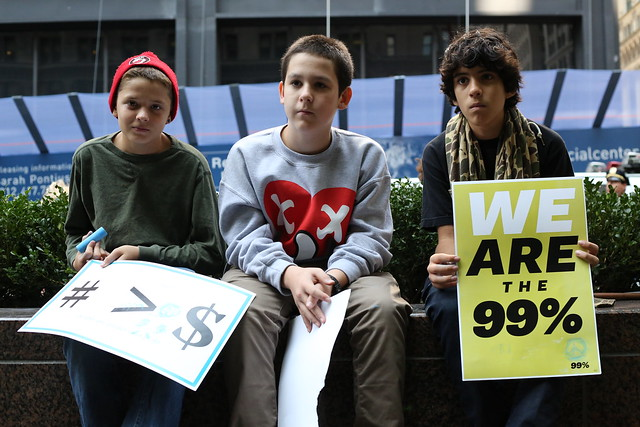 Boys at Occupy Wall Street