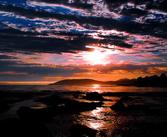[フリー画像素材] 自然風景, 海, ビーチ・海岸, 朝焼け・夕焼け, 風景 - アメリカ合衆国 ID:201209251600