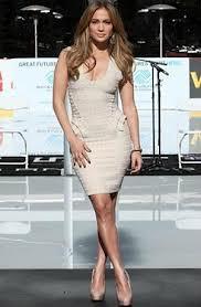 Jennifer Lopez Bandage Dress Herve Leger Celebrity Style Women's Fashion