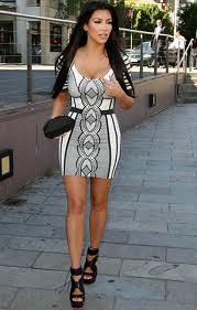 Kim Kardashian Bandage Dress Herve Leger Celebrity Style Women's Fashion 4