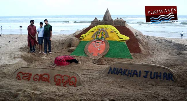 Nukhai Juhar Sand Art At Puri Beach