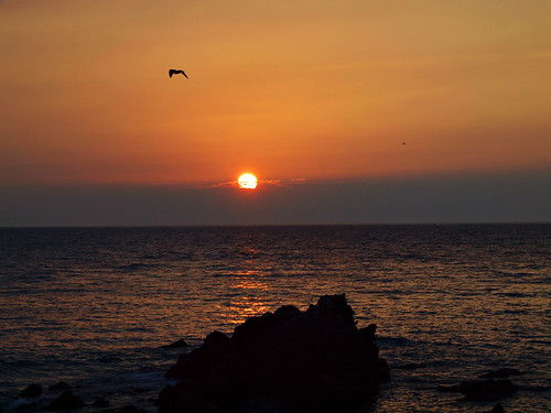 Sunset at Molivos, Greece, Island of Lesvos