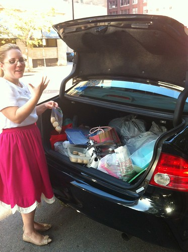 trunk full o'fabric