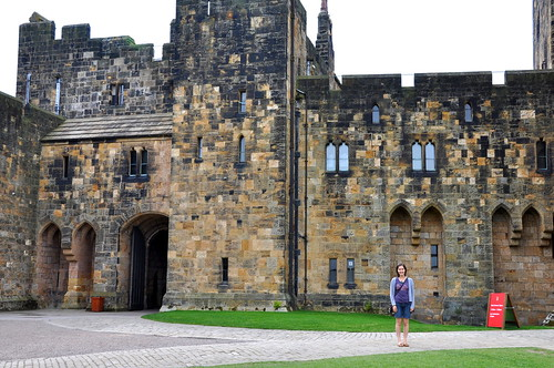 Hagrid and Christmas at Alnwick Castle