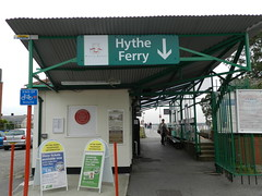 Photo of Hythe Ferry and Hythe Pier Railway red plaque