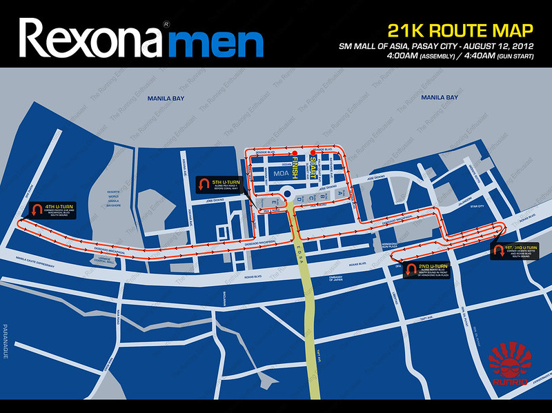 Rexona Run 2012 21k Route