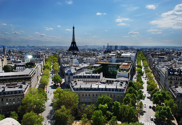 The Eiffle Towers From the Arc De Triomphe