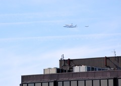 Space Shuttle over Burlingame, CA