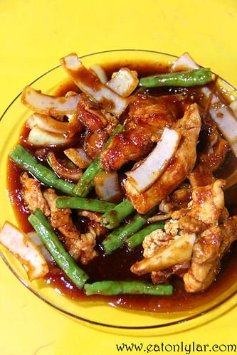 Ayam Padprik (Padprik Chicken), Restoran Vicchuda Tomyam & Seafood