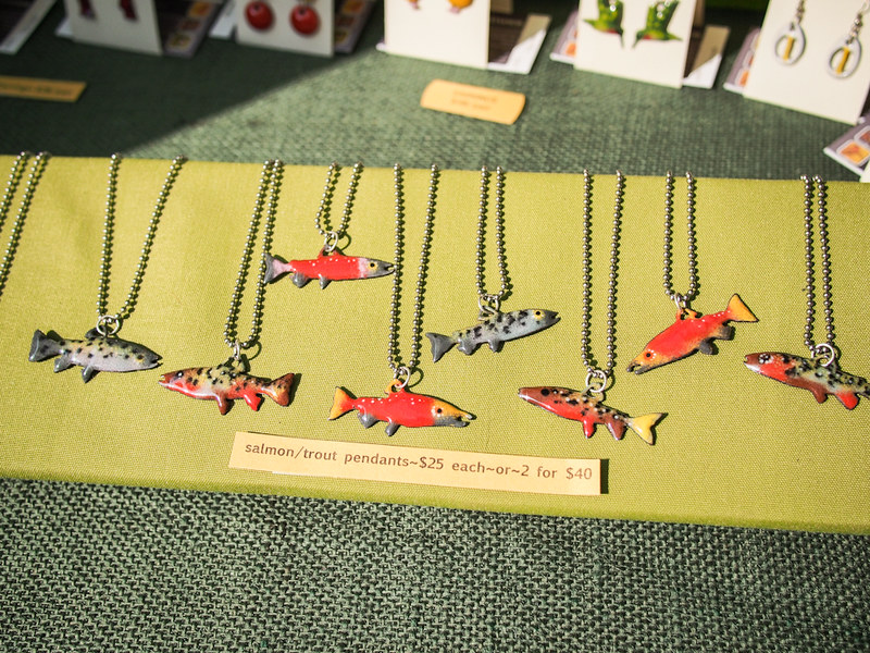 enameled fish pendants