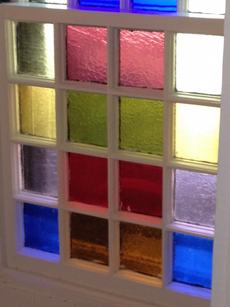 Avon Hill - Lancaster Street bath window, Cambridge, MA