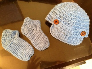 Baby Newsboy Hat & Socks