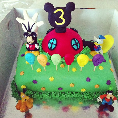 #mickeyclubhousecake by l'atelier de ronitte