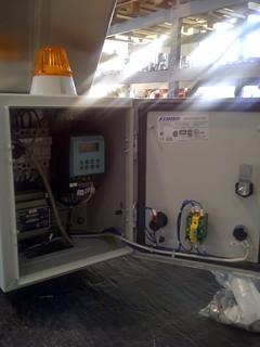Dosatore per additivo in produzione cemento - particolare quadro di comando