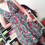Lux floral dress from tag sale in Brookville