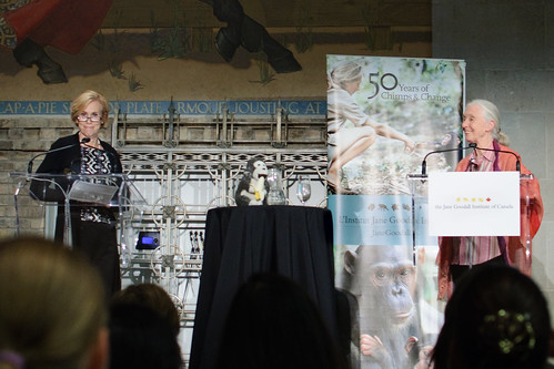 Jane Lawton and Jane Goodall, Toronto