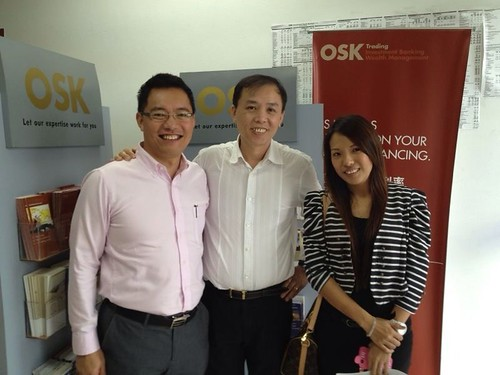 Robin visits OSK investment bank in Sibu, Malaysia