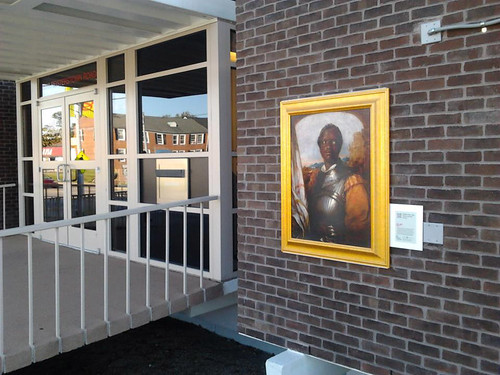Othello by William Mulready, on display outside the Reisterstown Road Branch Library