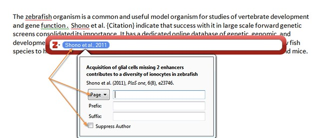 In-text citation edits