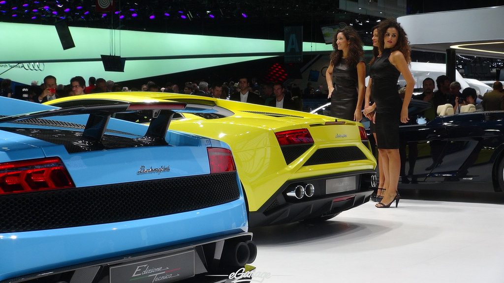 8034738695 30da0bf2f8 b eGarage Paris Motor Show Gallardo old and new