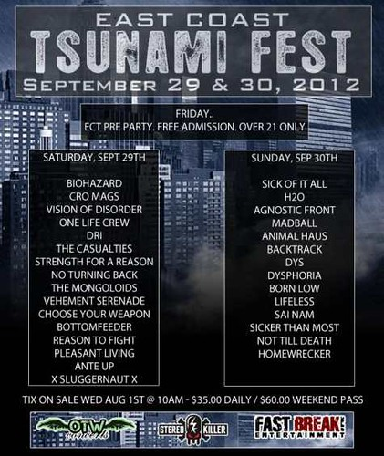 09/29 - 30/12 East Coast Tsunami Fest @ Reverb, Reading, PA