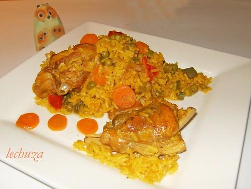 Conejo con arroz-plato  diag.