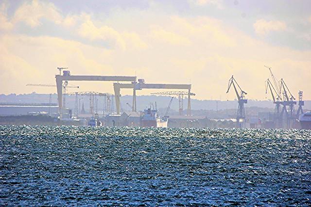 Belfast Harbour from Carrickfergus