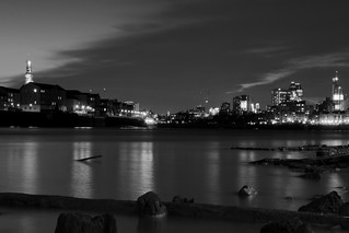 The Thames at low tide,Wapping , London,UK