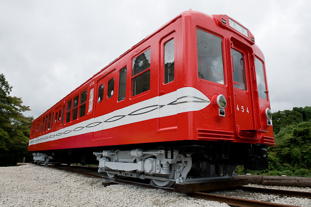 いすみポッポの丘保存車 営団地下鉄丸ノ内線400形454号車
