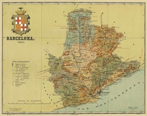 008-Provincia de Barcelona-Atlas geográfico ibero-americano. España (1903)