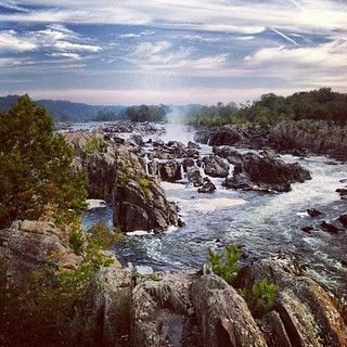 Great Falls, Mather Gorge, Potomac River, from the Virginia side.