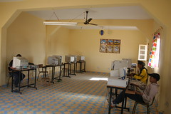 Internet Café in Hassilabied Merzouga