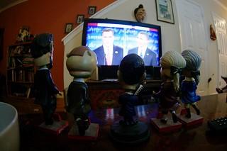 watching the debate