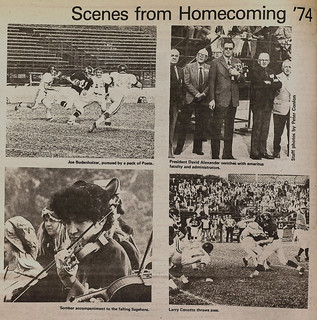 Four TSL photos from Homecoming 1974