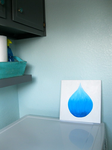 where to put water drop painting?