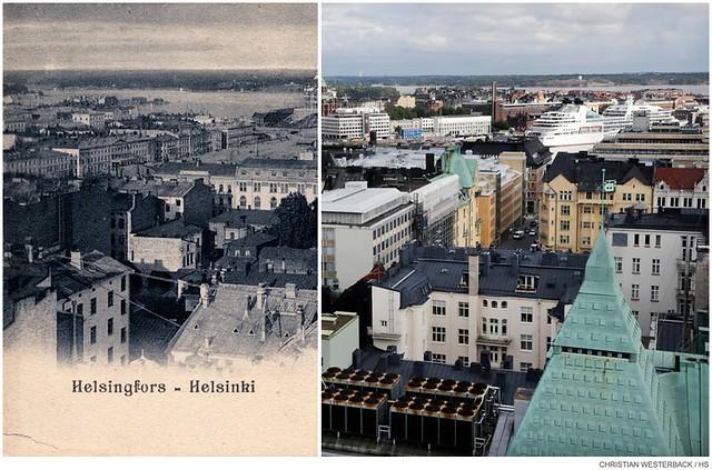 La capital de Finlandia en el pasado y ahora