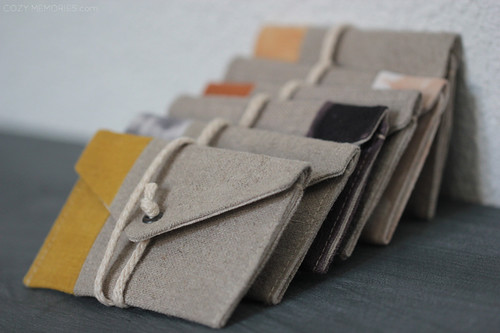 6 linen card holders