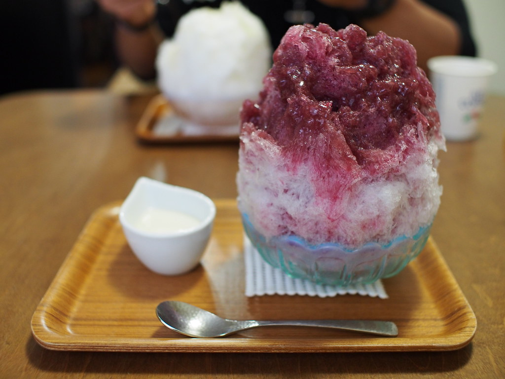 Japanese Shaved Ice Dessert - Double Grape