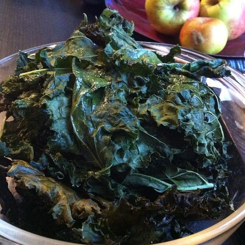 Nothing says vegan like a big bowl of kale